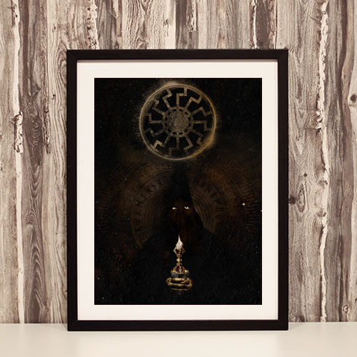 Framed Art Print Third Reich Theme Poster The Black Sun