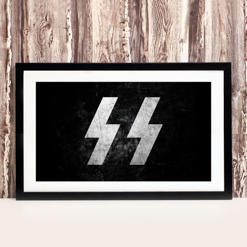 Framed Art Print Third Reich Theme SS-Schutzstaffel Stylized Framed Poster