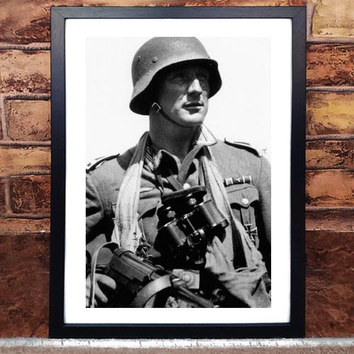 Framed Art Print Wehrmacht German Troop