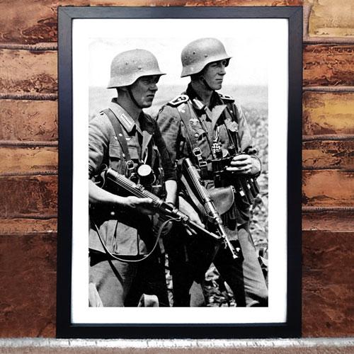Framed Art Print World War II German Troops
