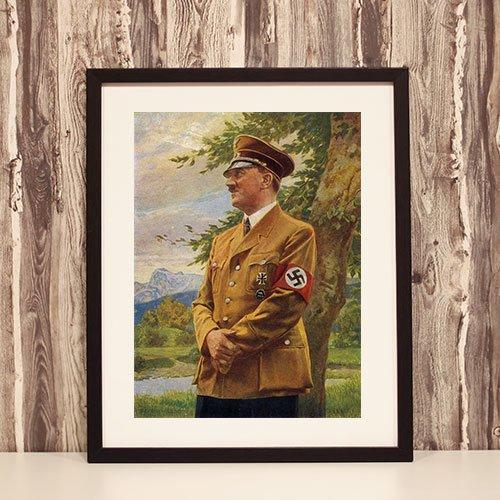 Framed Portrait of Adolf Hitler
