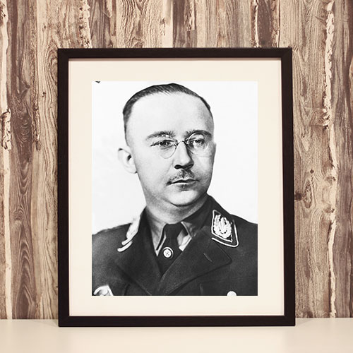 Framed Portrait of Heinrich Himmler 1945