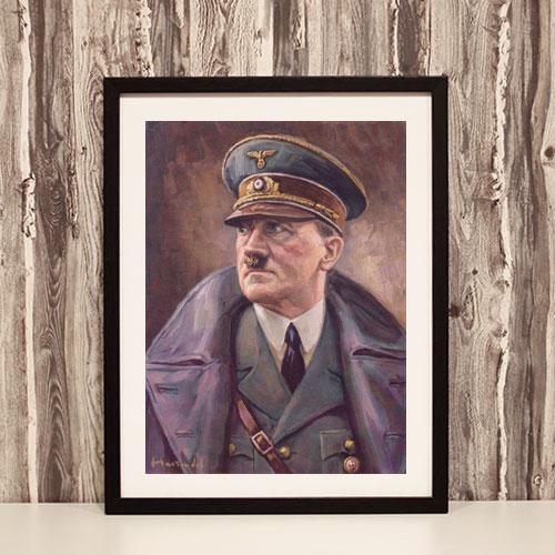 Framed Poster Portrait of Adolf Hitler in Uniform