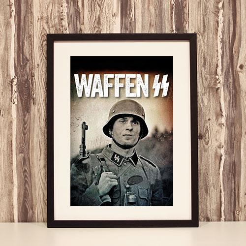 Framed Art Print Principal Waffen-SS