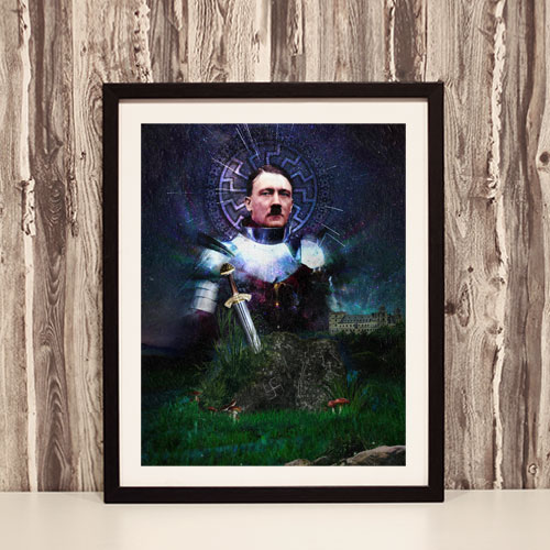 Third Reich Theme Framed Art Print Adolf Hitler - The Knight