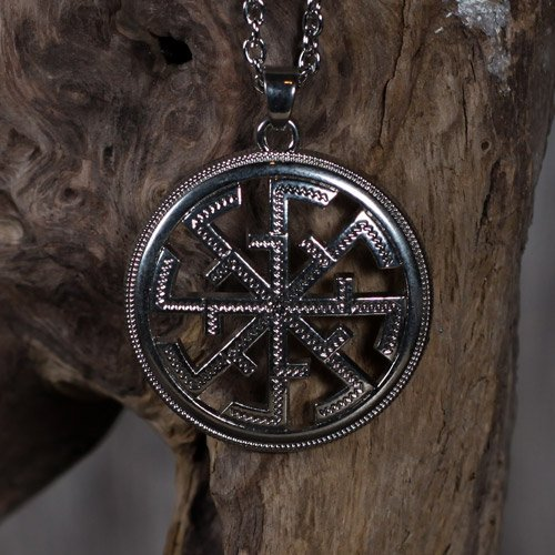German Black Sun Pendant Sun Wheel Kolovrat