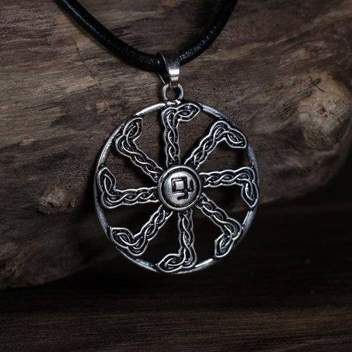 Sun Wheel Swastika Pendant Odal Rune