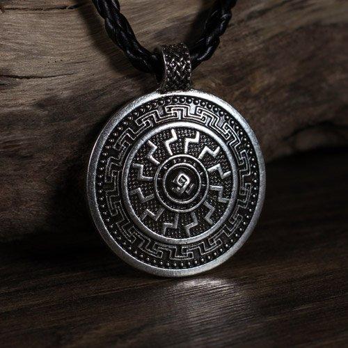 German Black Sun Pendant Odal Rune