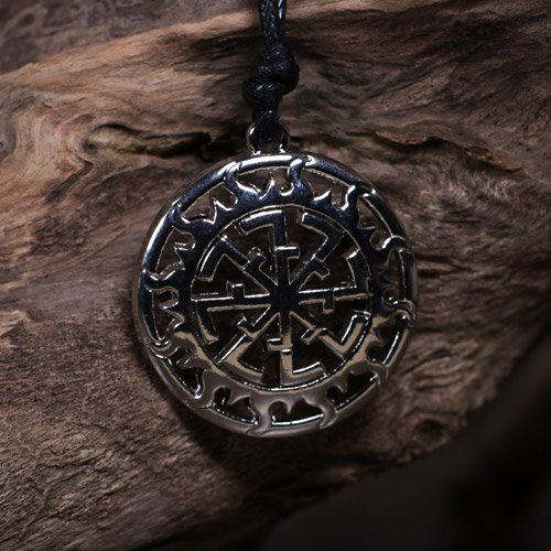 German Black Sun Pendant Sun Wheel