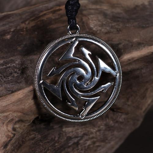 Swastika Pendant Sun Wheel Black Sun Medalion