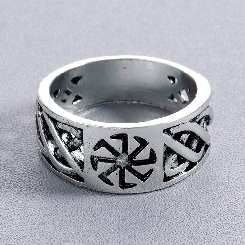 Sun Wheel Ring Kolovrat German Nazi Ring