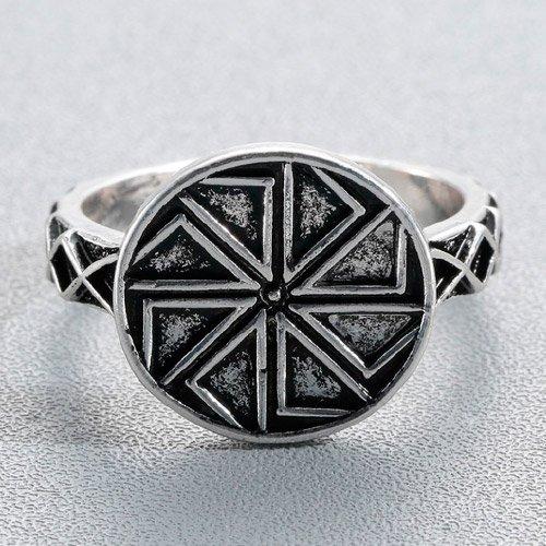 Swastika Ring Sun Wheel Ring Kolovrat